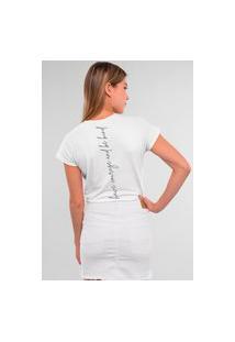 Camiseta Feminina Mirat Have Courage Branco