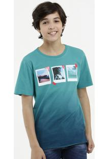 Camiseta Juvenil Degradê Manga Curta Mr