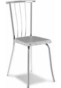 Cadeira Cromada Ávila Fantasia Branca