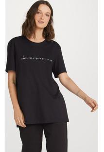 Camiseta Feminina Alongada Hering + Verena Smit