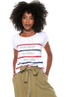 Camiseta Lez A Lez Estampada Branca