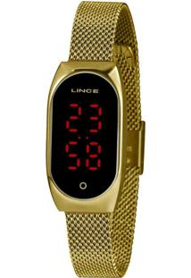 Relógio Feminino Lince Dourado Led Digital Ldg4641L Pxkx