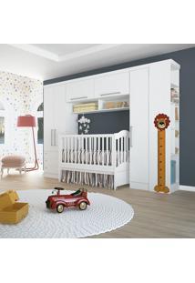 Quarto Modulado Solteiro Com 4 Peças 0005Ma Baby Infinity-Móveis Castro - Branco