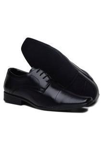Sapato Social Tamanho Grande De Amarrar Masculino Preto
