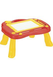 Mesa Mágica Com Alça Art Brink Desenhe E Apague - Vermelho E Amarelo - 839017