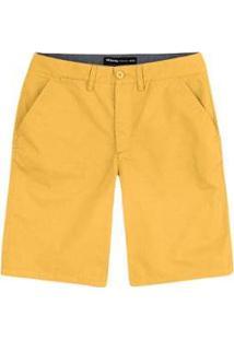Bermuda Hering Básica Chino Masculina - Masculino-Amarelo