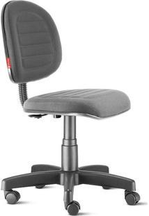 Cadeira Escritório Executiva Costura Cinza
