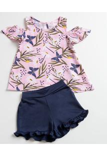 Conjunto Infantil Estampa Floral Marisa