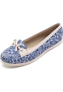 3e6010faf1 Dafiti. Mocassim Moleca Floral Azul