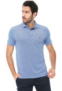 8e8a6f3020 Camisa Polo Tommy Hilfiger Reta Oxford Azul