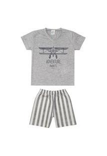Pijama Brilha No Escuro Decote V Menino Dadomile Multicolorido