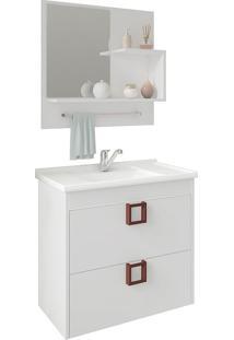 Conjunto Para Banheiro Com 1 Porta Lirio-Mgm - Branco