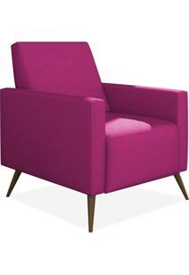 Poltrona Decorativa Para Sala De Estar Pés Palito Liz P02 Suede Pink - Lyam Decor