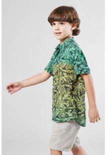 Camisa Infantil Mini Sm Bananal Mc Reserva Masculina - Masculino-Verde