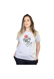 Camiseta Boutique Judith Thirsty For Love Cinza