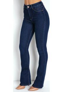 Calça Jeans Flare 360º Com Cinta Sawary
