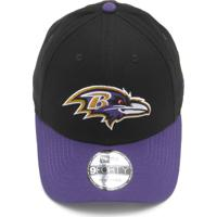 2d91a34bb5936 Boné New Era Baltimore Ravens Preto Roxo