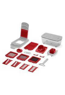 Kit Cortador De Alimentos 21 Pcs - Descascador, Ralador, Corte Quadrado E Espiral Up Home - Ud005 Ud005