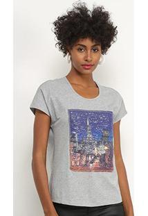 Camiseta Facinelli Paris Paetês Feminina - Feminino