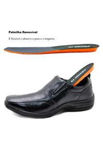 Sapato Social Masculino Em Couro 53106Pc Preto 323