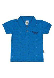 Camiseta Royal Menino Piquet 37659-140 Camiseta Azul Menino Piquet Ref:37659-140-G