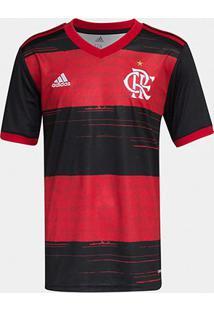Camisa Flamengo Infantil I 20/21 S/N° Torcedor Adidas - Masculino-Preto+Vermelho