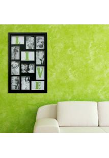 Painel Bee Collection Words Live 8 Fotos 10X15Cm Preto Kapos