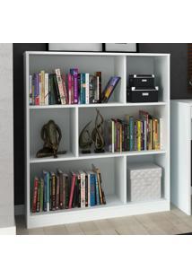 Estante Para Livros 2 Prateleiras Com Nichos Ho-2923 Branco - Hecol