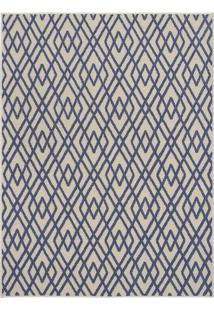 Tapete Art Design Geométrico- Bege Claro & Azul Escuro