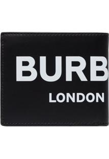 Burberry Carteira Dobrável Com Estampa De Logo - Preto