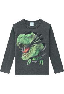 Camiseta Pijama Infantil Masculina Mescla
