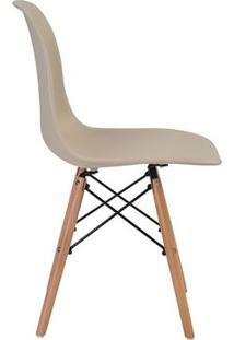 Cadeira Eames Eiffel Rivatti Sem Braço Pp Base Madeira Nude