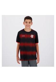 Camisa Flamengo Part Infantil Preta