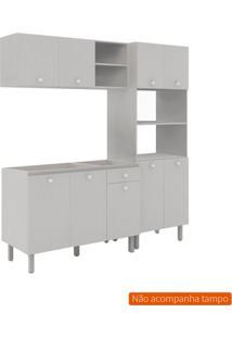 Cozinha Compacta Piazza 9 Pt 1 Gv Off White