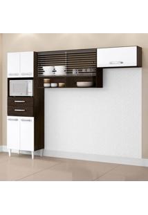 Cozinha Compacta Michele 7 Pt Ravello E Branco
