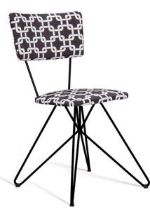 Cadeira Butterfly Preto E Branco
