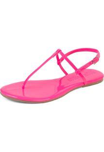 Sandã¡Lia Rasteirinha Mercedita Shoes Verniz Neon Pink Ultra Macia - Rosa - Feminino - Dafiti