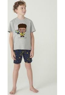 Pijama Manga Curta Menino Com Bermuda Dpa