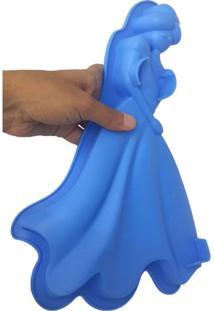 Forma Silicone Para Doces Diversos Torta Pudim Bolo Cozinha Princesa Azul (Sili-9)