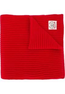 Pringle Of Scotland Cachecol De Cashmere Com Logo - Vermelho