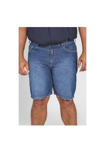 Bermuda Jeans Guess Reta Estonada Azul