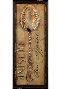 Quadro Decorativo De Parede Spoon Com Moldura