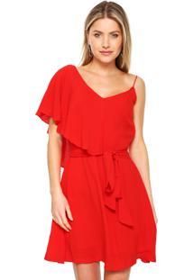 ff8fc8dd5 Vestido Ana Hickmann Curto Assimétrico Vermelho