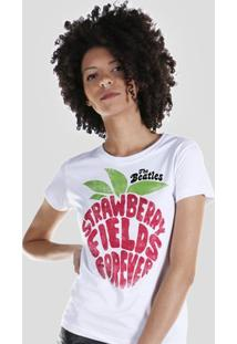 Camiseta Bandup! The Beatles Strawberry Fields Forever - Feminino-Branco
