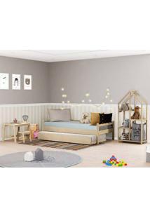 Quarto Infantil Bicama Reversível C/Estante E Escrivaninha-Casatema