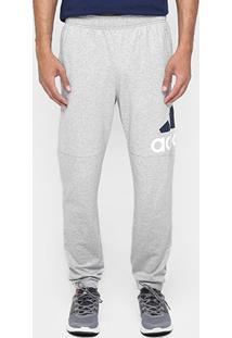 Calça Adidas Essentials Performance Logo Masculina - Masculino-Cinza