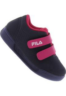 Tênis Fila F16 Low Velcro Bb Feminino - Infantil - Azul Escuro c14a5f28f6e58