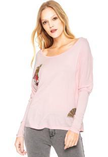 Camiseta Lez A Lez Patches Rosa