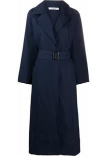 Katharine Hamnett London Trench Coat Oversized Com Cinto - Azul