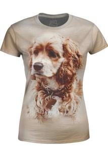 Camiseta Baby Look Cocker Spaniel Over Fame Cinza